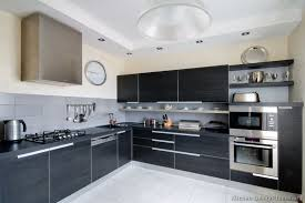 Black Cabinets Kitchen Modern Black Kitchen Cabinets Home Design Ideas