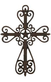 m f western products metal swirls and star wall cross star wall m f western products metal swirls and star wall cross