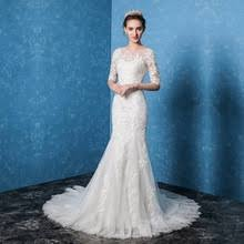 Fitted Wedding Dresses Lace Sleeve Fitted Wedding Dresses Promotion Shop For Promotional