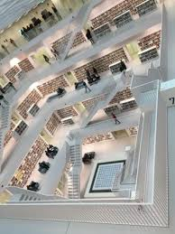 mc escher work in real life picture of stuttgart city library