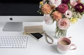 Floral Desk Accessories Floral Desktop With Desk Accessories Desk Accessories Creative