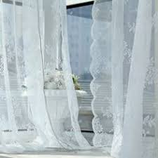 Lace Curtains Amazon Comfort Bay Anna Lace Panel With Attached Valance 58