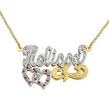 script name necklace 10k gold diamond script name necklace tyche nyc