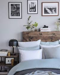 bed backboard love this simple but natural backboard blue grey and brown