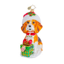 radko ornaments ornament beagle buddy