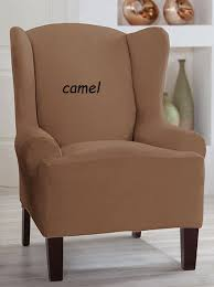 stretch chair covers tailor fit stretch wing back chair cover