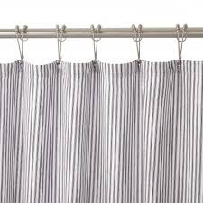 Silver And White Shower Curtain Bathroom Shower Curtains U0026 Shower Curtain Hooks Signature Hardware