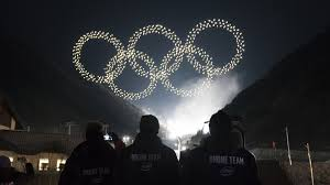 disney drone light show watch the record setting olympics intel drone light show the drone