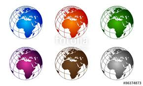 3d africa map vector 3d global globe world map africa colorful vector stock