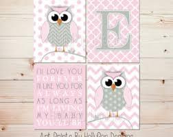 Owl Room Decor Owl Nursery Decor Etsy