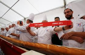 milan guinness declares the longest baguette at 400 feet in italy