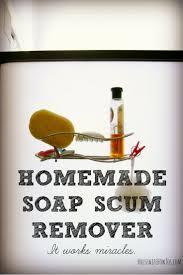 homemade soap scum remover no scrubbing required