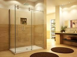 bathroom best frameless bathroom shower door for corner shower