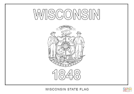 wisconsin state flag coloring page free printable coloring pages