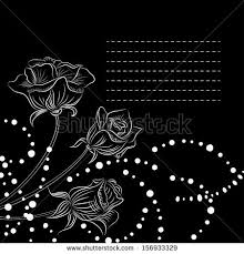 Maps For Business Cards Romantic Invitation Card Beautiful Roses Flowers Stock Vector