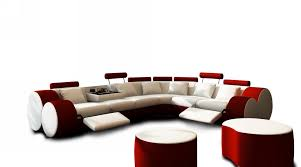 Modern Leather Sofa With Chaise by Modern White And Red Leather Sectional Sofa And Coffee Table