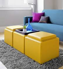modern brown fabric storage ottoman useful and functional