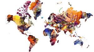 Map Wallpaper 1920x1080 Maps Watercolour World Map Modern Art World Map In