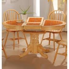 round pedestal dining table with butterfly leaf round tile top natural dining room table butterfly leaf main image