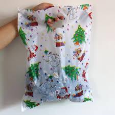 100pcs 30x40cm large plastic shopping bags santa claus
