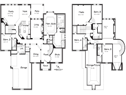 5 bedroom house plans baby nursery 5 bedroom 2 story house bedroom house plans story
