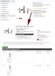 Price Pfister Kitchen Faucet Replacement Parts How To Shop For Pfister Replacement Parts