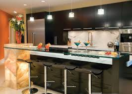 functional kitchen ideas design functional kitchen with bar and contemporary lighting