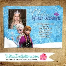personalized frozen birthday invitations disneyforever hd
