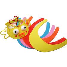 aliexpress com buy 5 pcs children handmade kit eva animal hat