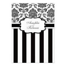 black and white striped wedding invitations black white damask and stripes wedding invitation x invitation