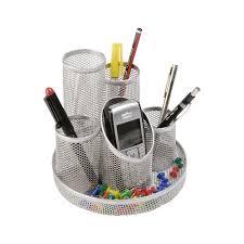 Desk Accessories Uk by Mesh Pen Pot Silver Staples