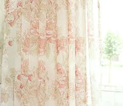 Sheer Coral Curtains Country Sheer Curtains Geekswag Me