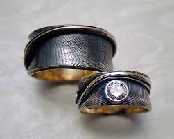fingerprint wedding bands fingerprint wedding engagement bands metamorphosis jewelry
