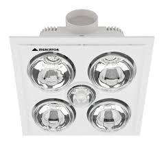 Bathroom Heater Fan Light Mercator Bs024lswwh Lava Quattro 4 X Heat 1 X Light Fan