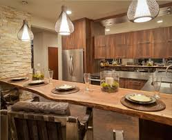 fabulous eat custom kitchen designs shaped kitchen with natural wood plank for eat counter