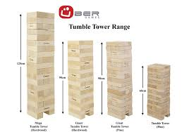 How To Make Backyard Jenga by Amazon Com Uber Games Tumble Tower Giant Pine Toys U0026 Games