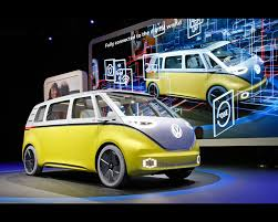 electric volkswagen van i d buzz pure electric concept 2017