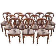 Victorian Dining Chairs Set Of Ten Mahogany Victorian Dining Chairs At 1stdibs
