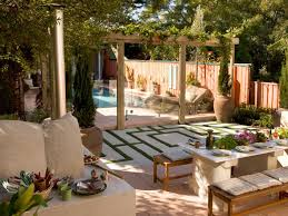 MediterraneanInspired Outdoor Spaces HGTV - Backyard vineyard design