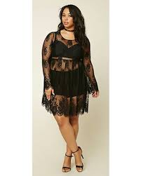 get the deal forever21 plus women u0027s black plus size sheer lace dress