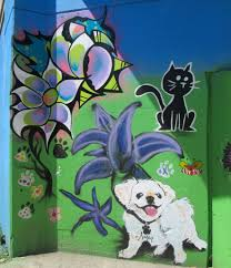 new mural at dog park park no 556 bucktown logan squar flickr