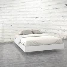 White Platform Bed Frame Acapella Size Platform Bed 346003 The Home Depot