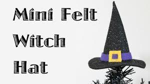 halloween witch hat craft mini felt witch hat youtube