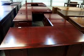Cherry Wood Desk Savvi Commercial And Office Furniture Affordable And High