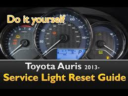 2012 toyota maintenance light reset toyota auris service maintenance light reset 2013