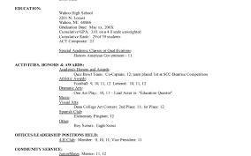 Examples Of College Application Resumes by Student Resume Samples For College Applications Resume For Your