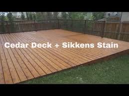 Sikkens Cetol Uv Interior Cedar Deck Restoration In Calgary Eco Star Painting