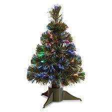 fiber optic pre lit tree walmart