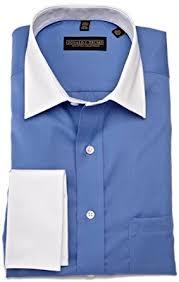 trump mens donald trump french cuff dress shirt blue 15 5 34 35