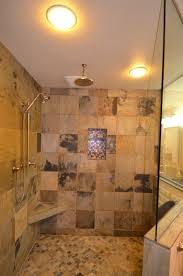 custom walk in shower destroybmx com nice doorless shower design with glass wall and stone wall